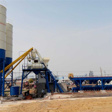 Ready mixed stationary simple wet concrete mixing plant