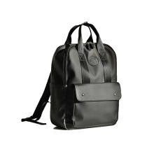 Custom Durable Utility Leisure Mens Plain Black Backpack