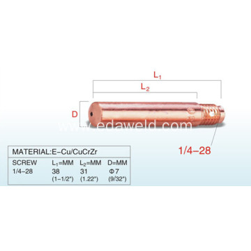 Lincoln Diameter 7mm E-Cu Contact Tip