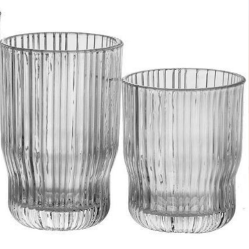 Ribbed design glass dof and highball