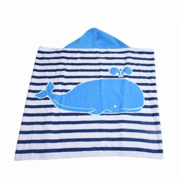 Customized design pattern Baby Hooded Towels Plain Dyed