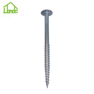 Galvanized ground mounting screw