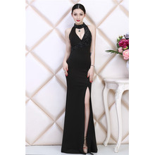 the new summer dress fashion elegant evening banquet host sexy long slim down