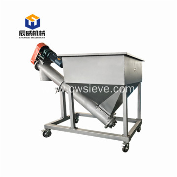 screw flight conveyor dosing for sand