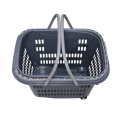 Custom PP shopping basket with 4 wheels