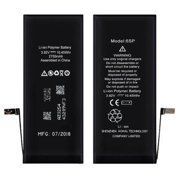 100% Original for iPhone 6Plus/6S Plus Li-ion Battery Higher 300mAh iPhone 6S Plus High Capacity Li-ion Battery 3410mAh export to France Wholesale
