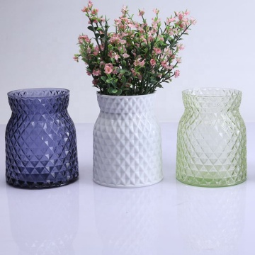 Handmade Crystal Glass Flower Vase For Home