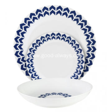 18 Piece Coupe Porcelain Tableware Dinner Set