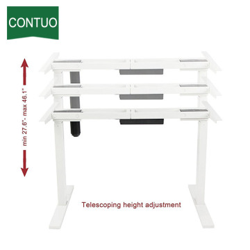 Cheap PriceList for Single Motor Standing Desk,Adjustable Table,Adjustable Computer Desk Manufacturer in China Office Best Motor Controller Ergonomic Computer Desk supply to China Factory
