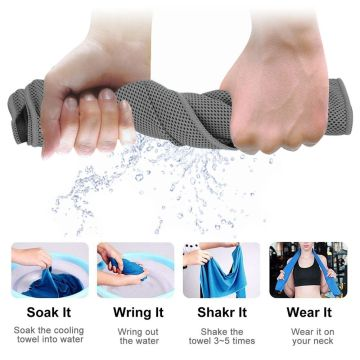 Digitek 4 pcs Cooling Sports Microfiber Towels