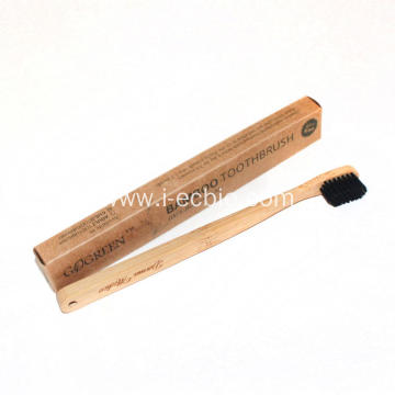 Household Adult Bamboo Toothbrush With Tilted Head