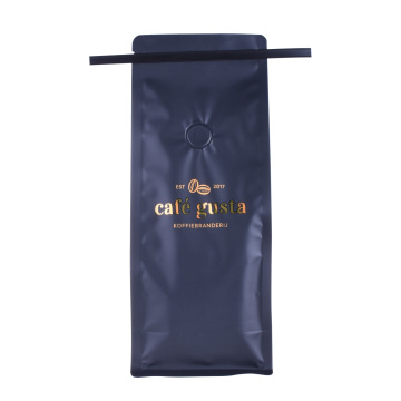 Plastic Coffee Bag With Tin Tie