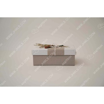 Linen Rope Dry Flower Decorative Cosmetic Box