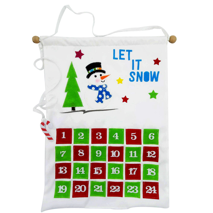 snowman and penguin Christmas advent calendar