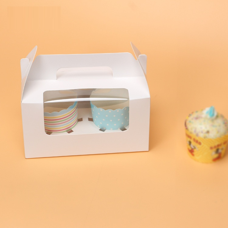 2 pcs paper cupcake box wholesale