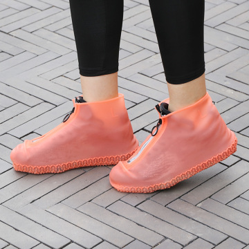 Silicone Shoe Covers Rain Reusable Hands Free Rain Proof For Walking In The Rainy Day