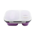 Food Grade Silicone Collapsible Lunch Box For Picnic
