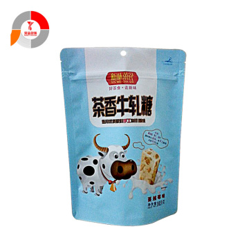 Aluminum Foil Food Stand Up Plastic Zipper Bag
