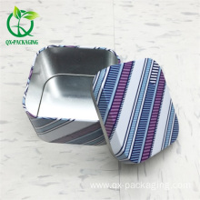 Small rectangular metal tins