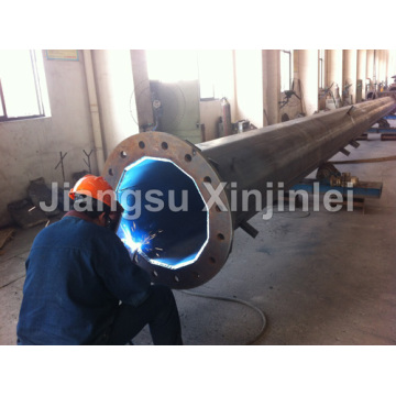 Cheap for High Voltage Transmission Line 220kV Tube Steel Tubular Pole supply to Sri Lanka Supplier