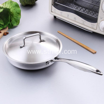 Stainless Steel Uncoated Non-stick Pan