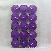 10g color wax tealight candles in pvc box