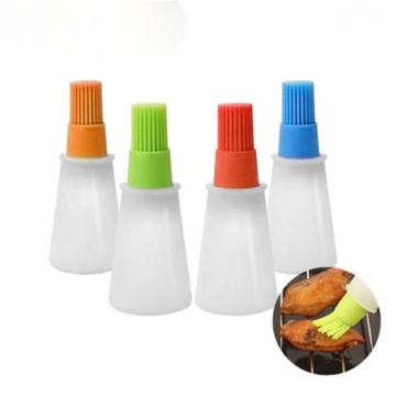 Kitchen Baking Silicone Oil Sauce Bottles with Brushes