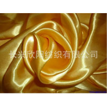 Crumpled polyester satin fabric