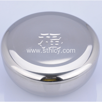 Durable Stainless Steel Monolayer Bowl With Lid