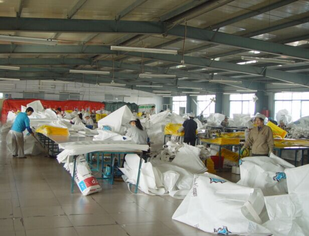 Bulk bag sewing room