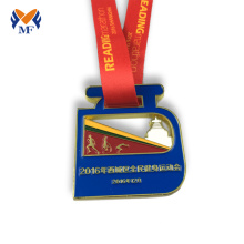Personlized Products for Running Medal Red medal ribbon colour race run medal export to Virgin Islands (British) Suppliers