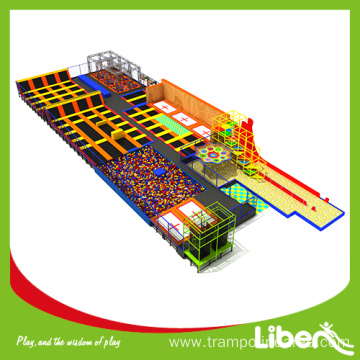 indoor trampoline park with foam pit