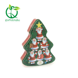 Christmas tree biscuit tin for sale