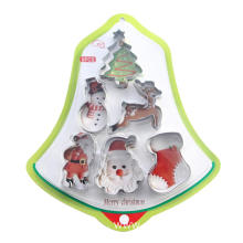 6 pcs Christmas Bell shape Cookie cutter set