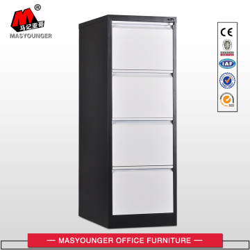 Black White 4 Drawer Vertical File Cabinet
