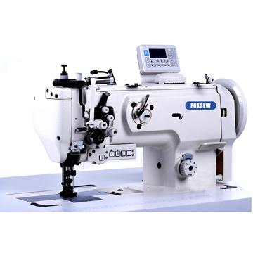 Twin Needle Triple Feed Split Needle Bar Lock Stitch Sofa Sewing Machine with Automatic Thread Trimmer.