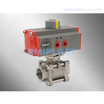 "Double Acting Pneumatic Ball Valve Stainless Steel 304 Size 1/2"" 3/4"" 1"" 1-1/4"" 1-1/2"""