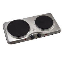 Stainless steel 2500W double hotplate