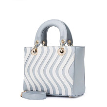 Simple striped decoration handbag shoulder bag