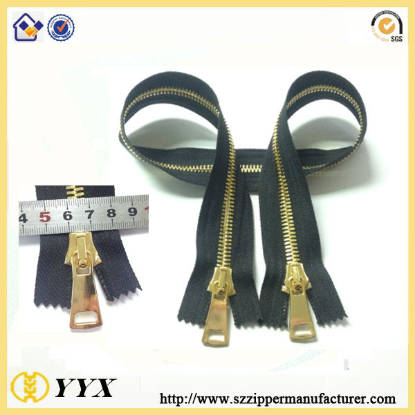 two side open end metal zipper