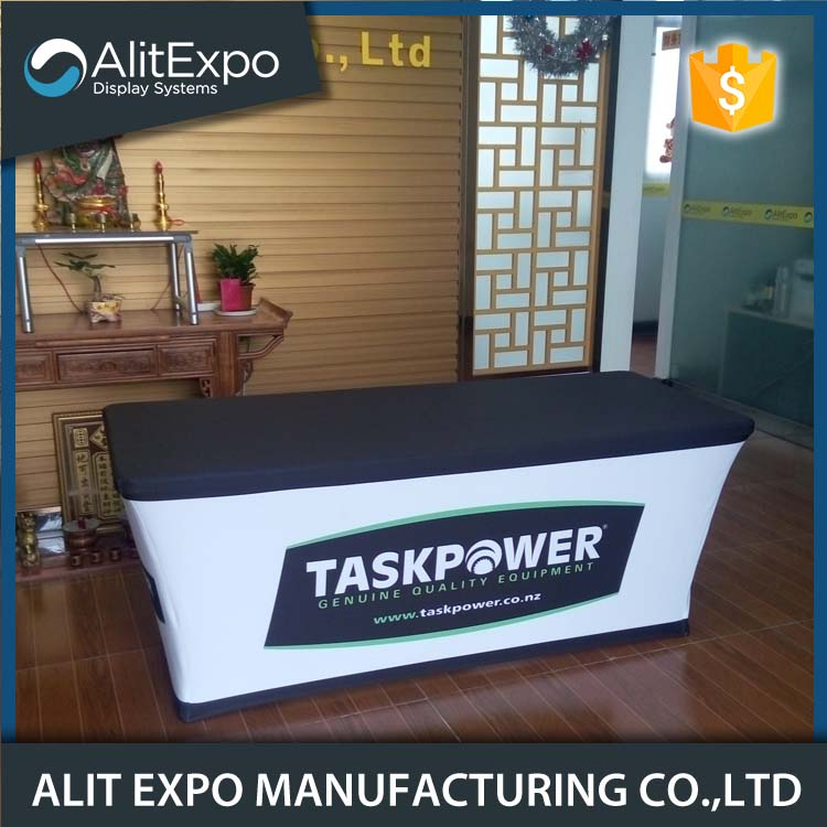 Printed exhibition table cover stretch