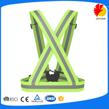 green customised hot sale clothing reflective running vest