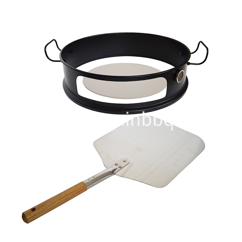 Black Coated Steel Kettle Pizza Ring