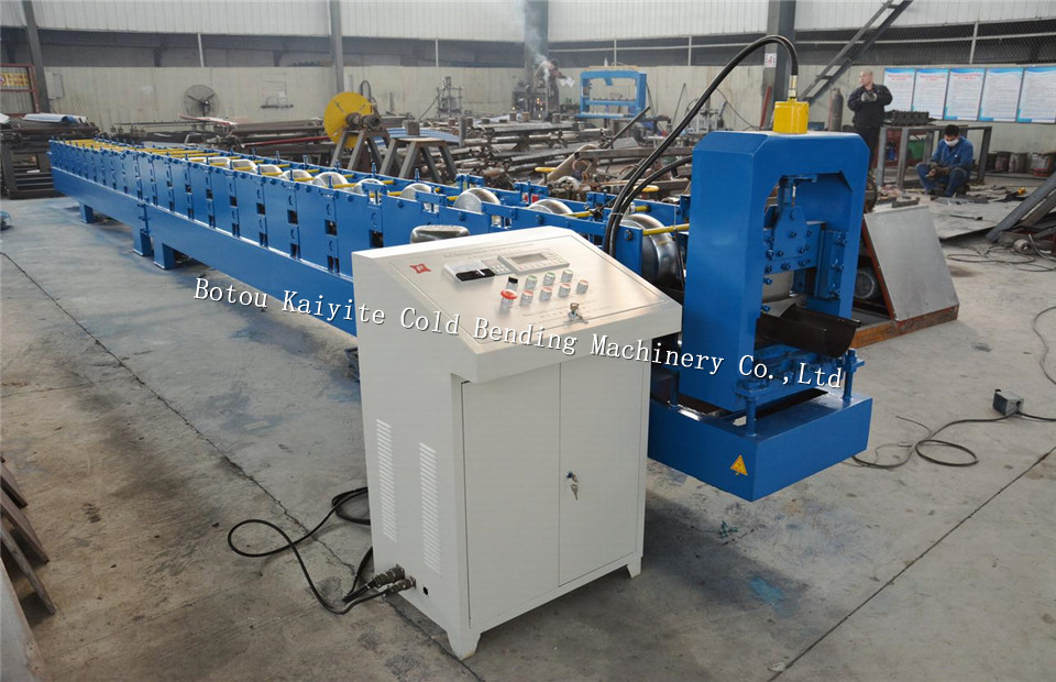 Bolivia style galvanized roofing Gutter Roll Forming Machine