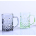 Coloured Water Glass Cups With Handle