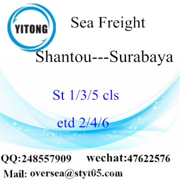 Shantou Port LCL Consolidation To Surabaya