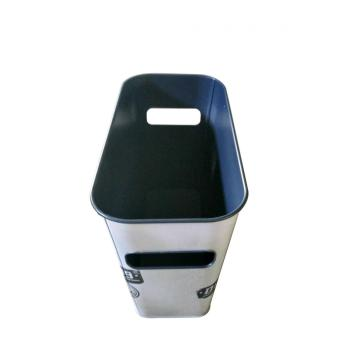 Rectangle tin ice bucket