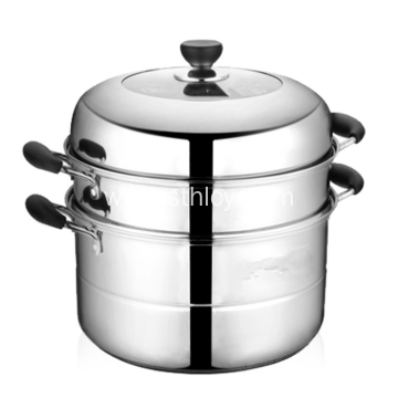 24cm-32cm Stainless Steel 3 layers Cooking Steamer Pot