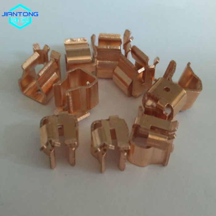 customized electrical stamping parts copper spring clip