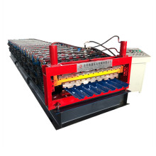Metal Double Trapezoid Roofing Sheet roll forming machine